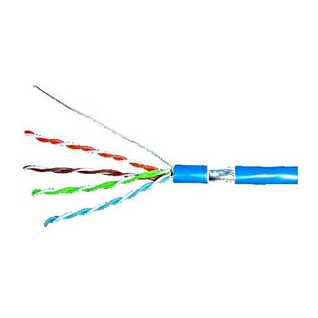 Cablu de date Schrack F/UTP Cat.5e AWG24 100Mhz manta LS0H culoare albastru in cutie de 305m
