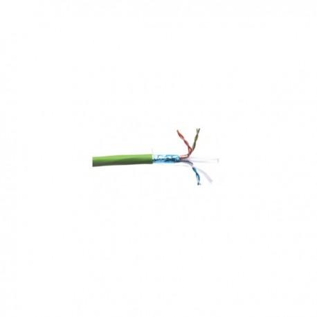 Cablu FTP 3M Volition cat. 6 100 ohmi, ecranat, manta LSOH 4 perechi, culoare verde (tambur cu 500 m)