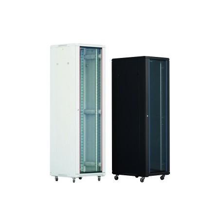 "Cabinet rack Xcab 42 HU  19"", 600x1000mm, dezasamblat, culoare neagra"