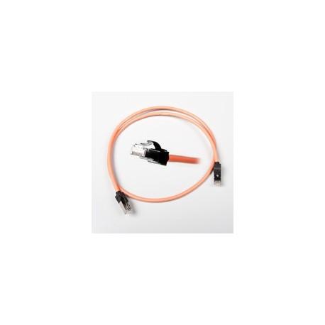 Patch cord Nexans LANmark ecranat 10G Cat.6, RJ45-RJ45, manta LSZH, portocaliu, 1m