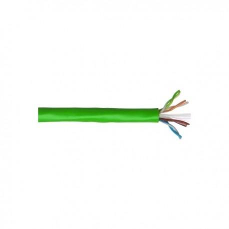 Cablu dual UTP 3M Volition cat. 6 100 ohmi, neecranat manta LSOH 2*4 perechi, culoare verde (tambur cu 500 m)